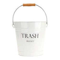 York Trash Bucket - This simple and pretty bucket would go seamlessly with my living room decor. If only they made one for recyclables too.