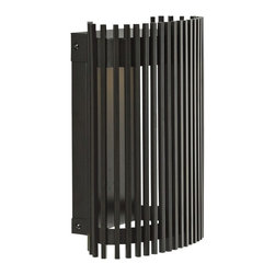 """LBL Lighting - LBL Upstate 11"""" High Bronze LED Outdoor Wall Light - A finish of bronze imparts a welcome degree of regality. Inspired handsome and versatile describe this beautiful wall sconce to a tee. Plus LED lamping ensures energy saving benefits. Upstate 11 Collection outdoor fixture. Bronze finish. Mounts down only. For wet locations. Includes one 11 watt LED module. LED module. Lumen: 840 Kelvin: 3000K CRI: 80. Dimmable with a low-voltage electronic dimmer. 11"""" high. 8 2/3"""" wide. 4 3/5"""" extension.   Upstate 11 Collection outdoor fixture.  Bronze finish.  Mounts down only.  For wet locations.  California Title 24 compliant.  Includes one 11 watt LED module.  LED module. Lumen: 840 Kelvin: 3000K CRI: 80.  Dimmable with a low-voltage electronic dimmer.  11"""" high.  8 2/3"""" wide.  4 3/5"""" extension."""