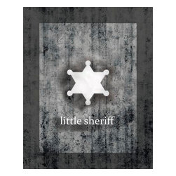 Oh How Cute Kids by Serena Bowman - Little Sheriff, Ready To Hang Canvas Kid's Wall Decor, 8 X 10 - Every kid is unique and special in their own way so why shouldn't their wall decor be so as well! With our extensive selection of canvas wall art for kids, from princesses to spaceships and cowboys to travel girls, we'll help you find that perfect piece for your special one.  Or fill the entire room with our imaginative art, every canvas is part of a coordinating series, an easy way to provide a complete and unified look for any room.