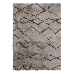 Surya - Surya Scout SCO-3005 (Gray, Black) 8' x 10' Rug - This Hand Tufted rug would make a great addition to any room in the house. The plush feel and durability of this rug will make it a must for your home. Free Shipping - Quick Delivery - Satisfaction Guaranteed