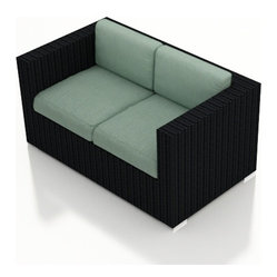Urbana Modern Outdoor Loveseat, Spa Cushions