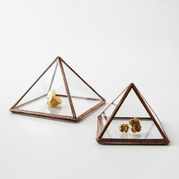 Ibi Pyramid Ring Box - These pyramid-shaped ring boxes are great for storing and displaying little treasures.