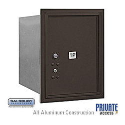 Salsbury Industries - 4C Horizontal Mailbox - 5 Door High Unit - Single Column - Stand-Alone Parcel Lo - 4C Horizontal Mailbox (Includes Master Commercial Lock) - 5 Door High Unit (20 Inches) - Single Column - Stand-Alone Parcel Locker - 1 PL5 - Bronze - Rear Loading - Private Access