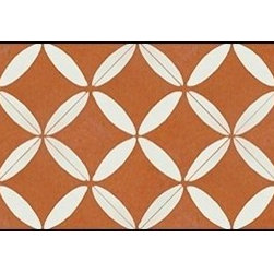 Casart coverings - XOXO Wallcoverings, Rust/White, Bookcase Backing (18 Sq. Ft.), Casart Light - Add some Marrakesh style to your home dcor with this Moroccan-inspired collection of faux tile patterns. This backsplash covering features a red and white Moroccan circular pattern.