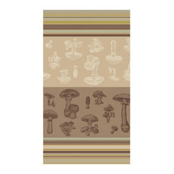 "Bambeco Borgetta Mushroom Dish Towel - The cool neutrals of this Borgetta Mushroom Dish Towel will keep your kitchen looking stylish even as you wipe down your countertops. The graphic mushroom design complements the organic nature of the material. The cotton is 100% Certified Organic and made with low impact dyes. Available color: Taupe.Dimensions: 20""W x 28""L.Care: Machine Washable & dryable."