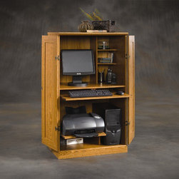 Sauder Orchard Hills Desk Armoire This Desk Has