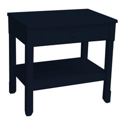 EuroLux Home - New Side Table Black Painted Hardwood Square - Product Details