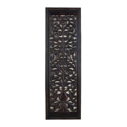 "Benzara - 63"" Ebony Black Hand Carved Wood Wall Decor Sculpture - 63"" Ebony black hand carved wood wall decor sculpture. Great hand carving on the wood. Class steely wood piece for any home decor. Catch the new trend in home furnishing. Wall decor is 63 H x 20 W inches."