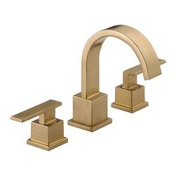 Delta Faucet Company - Delta Vero Two Handle Widespread Lavatory Faucet, Champagne Bronze (3553LF-CZ) - Delta 3553LF-CZ Vero Two Handle Widespread Lavatory Faucet, Champagne Bronze