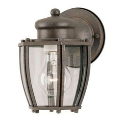 Westinghouse Outdoor Lanterns. 1-Light Textured Rust Patina Steel Exterior Wall
