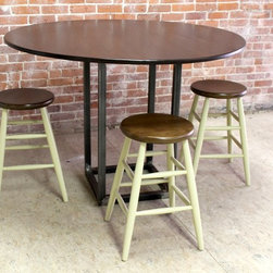Industrial Round Work Table -