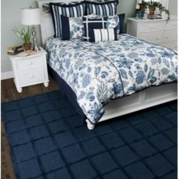 Rizzy Home Fresh Air Navy Comforter Bed Set - Update your bedroom with all the charm of a classic china pattern when you add the Rizzy Home Fresh Air Navy Comforter Bed Set. You'll love the cozy, coordinated look of this set as you snuggle down under the comforter. The crisp look of the blue and white floral make a beautiful addition to your bed. Machine washable, available in your choice of size.Comforter Dimensions:Queen: 92L x 96W in.King: 96L x 108W in.About Rizzy HomeRizwan Ansari and his brother Shamsu come from a family of rug artisans in India. Their design, color, and production skills have been passed from generation to generation. Known for meticulously crafted, handmade wool rugs and quality textiles, the Ansari family has built a flourishing home-fashion business from state-of-the-art facilities in India. In 2007, they established a rug-and-textiles distribution center in Calhoun, Georgia. With more than 100,000 square feet of warehouse space, the U.S. facility allows the company to further build on its reputation for excellence, artistry, and innovation. Their products include a wide selection of handmade and machine-made rugs, as well as designer bed linens, duvet sets, quilts, decorative pillows, table linens, and more. The family business prides itself on outstanding customer service, a variety of price points, and an array of designs and weaving techniques.