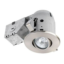 Unbranded - Unbranded 3.25 in. Brushed Nickel Recessed Lighting Kit 90680 - Shop for Lighting & Fans at The Home Depot. Quick and Easy Installation: includes extra-wide, patented clips that grip uneven holes and surfaces to secure effortlessly into position. Superior fit for a smarter, faster installation. Globe recessed light fixtures are the ideal choice for kitchens and home offices; highly focused light illuminates one 3.25- in. metal swivel recessed can. Junction box on side.