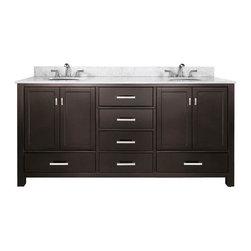 "Avanity - Avanity Modero 72 Vanity Cabinet Only, Espresso (MODERO-V72-ES) - Avanity MODERO-V72-ES Modero 72"" Vanity Cabinet Only, Espresso"
