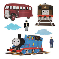 York Wallcoverings - THOMAS & Friends - Peel & Stick - Wall Stickers - FEATURES: