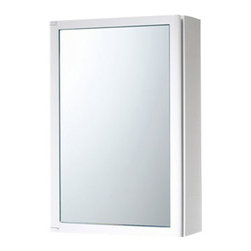 Gedy - White Cabinet with Mirror Door Made of Thermoplastic Resins - A wall mounted contemporary medicine cabinet that is made in thermoplastic resins and coated in white.