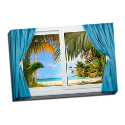 Picture it on canvas - Paradise Windows, Summer Dream - Feel the tranquility in the air and sand between your toes with these sun-drenched pictures of some of the world's most stunning landscapes.