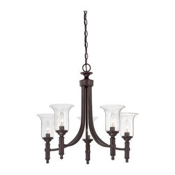 Savoy House Lighting - Savoy House 1-7130-5-13 Trudy 5 Light Chandelier, English Bronze - The impeccably-crafted Trudy collection from Savoy House features an English Bronze finish and bulbs inside seeded glass, creating unique and beautiful illumination. The collection features chandeliers, sconces, lanterns and semi-flush mounts.