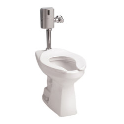 Toto - Toto CT705ELN Cotton White Commercial Flushometer HET Bowl Only, 1.28 GPF ADA - The Commercial collection by Toto gives an automatic, elegant, elongated look to any commercial applications.