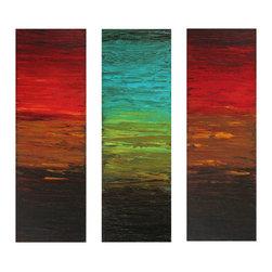 Sunshades by Preethi: Original Large Modern Painting - Title: Sunshades