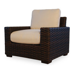 Lloyd Flanders Contempo Lounge Chair - Available in Aged Walnut Custom Vinyl. 29.5 H x 35.5 W x 35.5 D.