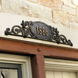 Charleston Outdoor Signs - Classic and beautiful, add a Charles Outdoor Address Plaque over the front door of your home.  In addition to announcing your address in style, it will add a decorative element to the entrance of your home.