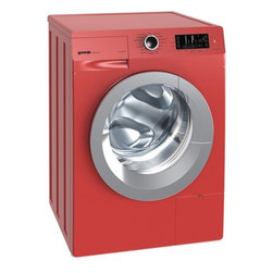 Washing Machine, Red - No, no, your Gorenje washing machine isn't blushing, it's simply happily red! It not only offers something for the eye, but does its job perfectly with 23 integrated washing programs. Get your laundry ready.