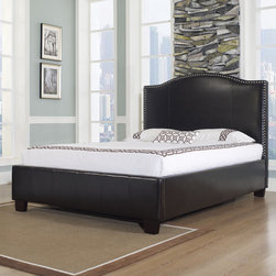 """dCOR design - Venice-X Platform Bed - Features: -Hand crafted and assembled button tufted.-Highest quality bonded leather.-Tall and comfortable headboard.-Solid foundation.-Holds a mattress only.-Hand stitched square stitching.-Finish: Tied to Finish.-Hardware Finish: Brushed nickel nail heads.-Solid Wood Construction: Yes.-Upholstered: Yes -Upholstered Section: Headboard, footboard, frame.-Upholstery Material: Leather and fabric.-Upholstery Fill Material: High density, high quality inner foam.-Nailhead Trim: Brushed nickel nail heads..-Mattress Included: No.-Box Spring Required: No.-Headboard Storage: No.-Trundle Bed Included: No.-Attached Nightstand: No.-Built in Outlets: No.-Lighted Headboard: No.-Distressed: No.-Eco-Friendly: Yes.-Canopy Frame: No.-Hidden Storage: No.-Swatch Available: Yes.Specifications: -CA foam.-CARB certified.-CARB Compliant: Yes.Dimensions: -Wooden Feet Dimension: 4''.-Overall Height - Top to Bottom (Size: California King): 55"""".-Overall Height - Top to Bottom (Size: King): 55"""".-Overall Height - Top to Bottom (Size: Queen): 55"""".-Overall Width - Side to Side (Size: California King): 77"""".-Overall Width - Side to Side (Size: King): 81"""".-Overall Width - Side to Side (Size: Queen): 65"""".-Overall Depth - Front to Back (Size: California King): 89"""".-Overall Depth - Front to Back (Size: King): 85"""".-Overall Depth - Front to Back (Size: Queen): 85"""".-Overall Product Weight (Size: California King): 203.92 lbs.-Overall Product Weight (Size: King): 240.3 lbs.-Overall Product Weight (Size: Queen): 195.1 lbs.-Headboard Dimensions Height (Size: California King): 55"""".-Headboard Dimensions Height (Size: King): 55"""".-Headboard Dimensions Height (Size: Queen): 55"""".-Headboard Width Side to Side (Size: California King): 77"""".-Headboard Width Side to Side (Size: King): 81"""".-Headboard Width Side to Side (Size: Queen): 65"""".-Headboard Depth Front to Back (Size: California King): 3.1"""".-Headboard Depth Front to Back (Size: King): 3.1"""".-Headboard Depth Front to Back (Size: Q"""