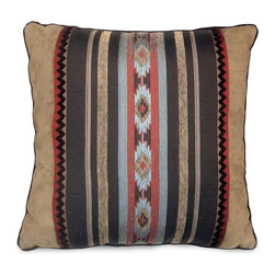 Veratex - Veratex Santa Fe Throw Pillow - The Veratex Santa Fe throw pillow features a gorgeous southwestern-inspired design. This beautiful decorative pillow features knife edging and a durable, fashionable polyester material.