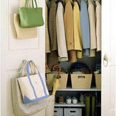 Eclectic  Closet Storage Idea