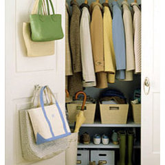 eclectic  Closet Storage Idea