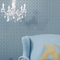 Simply Silks Wallpaper in Petite Damask - Find this pattern in the Simply Silks Collection at AmericanBlinds.com.