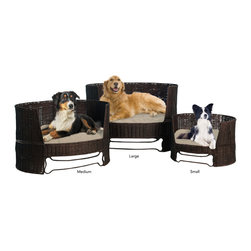 The Refined Canine - Dog Day Bed w/ Outdoor Cushion, Medium - Comfortable, Durable, Stylish. The Indoor/Outdoor Dog Day Bed is the perfect place for a doggie nap whether it be on a patio or a living room.