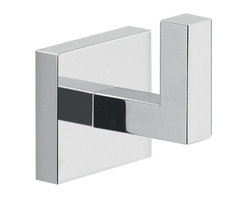 Gedy - Modern Square Wall Mounted Chrome Bathroom Hook - High quality brass decorative clothes, towel, or robe hook.