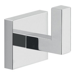 "Gedy - Modern Square Wall Mounted Chrome Bathroom Hook - High quality brass decorative clothes, towel, or robe hook. Square wall mounted bathroom hook designed and manufactured in Italy. Part of Gedy's Elba Collection. Square wall mounted bathroom hook. Made of high quality brass. Finished in polished chrome. Made in Italy by Gedy. Bathroom Hook: Width: 1.7"" height: 2.1"" depth: 2""."