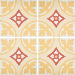 Granada Tile - Tile Sample Bordeaux 20 B - Bordeaux 20 B combines a classic French design with a contemporary color scheme; the best of both worlds!