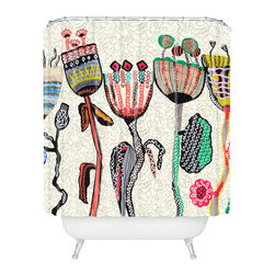 DENY Designs - Mikaela Rydin Parads Shower Curtain - Who says bathrooms can't be fun? To get the most bang for your buck, start with an artistic, inventive shower curtain. We've got endless options that will really make your bathroom pop. Heck, your guests may start spending a little extra time in there because of it!