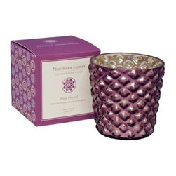 Jubilee Fine Fragranced Plum Orchid Candle - Small touches can be powerful. Grab a few of these glass hobnail candleholders to sprinkle around a little Radiant Orchid.