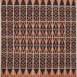 """Safavieh - Safavieh Kenya KNY609A 2'3"""" x 8' Orange, Black Rug - Inspired by afghan throws crocheted by hand in Kenya of indigenous un-dyed wool, Safavieh's Kenya rug collection is textural and beautifully detailed. Hand-tufted in India of pure, naturally colored wool, they add a well-traveled look to any room."""