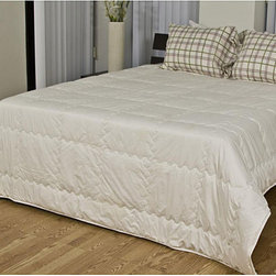 None - Organic 240 Thread Count Cotton Comforter - This organic cotton comforter is constructed of unbleached,undyed 240 thread count fabric and is filled with lush natural cotton fibers. This comforter showcases a quilted box construction to keeps the fill from shifting and to provide more loft.