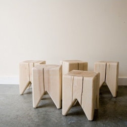 Stump by Kalon Studios - This funky stump makes a fun little stool for extra seating, or a cluster of them makes a striking coffee table.