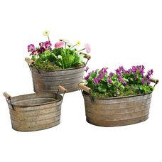 Rustic Outdoor Pots And Planters by Pier Surplus