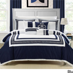 None - Venice 7-piece Cotton Comforter Set - This 7-piece lavish comforter set comes with everything you need to do a complete makeover for your master or guest suite. Detail Embroidery highlight the true essence of look you are trying to achieve in elegant home decor.