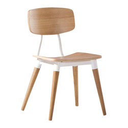 Nuevo Living - Ito Dining Chair, White Oak Veneer with White Base, Set of 2 - For every meal to be truly savored in style, you want dining seating that looks and feels great. This chair is the epitome of sleek design and is contoured for total comfort.