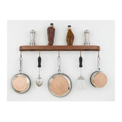 Hi-Lite MFG - Baker 34 in. Wall Rack - Includes six rack hooks. Accessories not included. Projection: 3.5 in.. Made from steel. Metallic copper painted finish. 34 in. L x 2 in. HHi-Lite achieved success through attention to detail and stubbornness to only manufacture the highest quality product. Hi-Lite has built its reputation as a premier lighting manufacturer by using only the finest raw materials, inspirational designs, and unparalleled service. This allows us great flexibility with our designs as well as offering you the unique ability to have your custom designs brought to light.