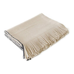 18KARAT - Amaru Throw - Woven from the softest fibers on Earth, these 100% baby alpaca throws have a contrasting edging stitch.