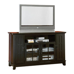 Home Styles - Home Styles Arts and Crafts Entertainment Credenza in Ebony - Home Styles - TV Stands - 518110 - Distinctive Arts and Crafts styling features clean simple lines and comfortable functional design. Its great design fits any room in your home.