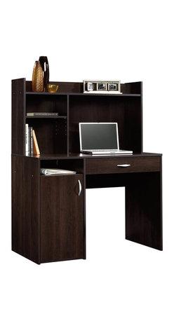 Sauder - Sauder Beginnings Desk with Hutch in Cinnamon Cherry - Sauder - Home Office Desks - 413084