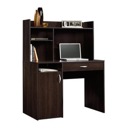 Sauder - Sauder Beginnings Desk with Hutch in Cinnamon Cherry - Sauder - Home Office Desks - 413084