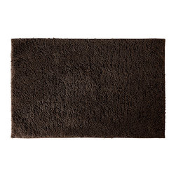 None - Grace Chocolate Cotton 30x50 Bath Rug - Add a gracious note of comfort to your bath or shower with the Grace Cotton collection of bath runners and rugs. The soft loop pile of this brown rug is made of 100-percent cotton, while the classic design blends with any decor.